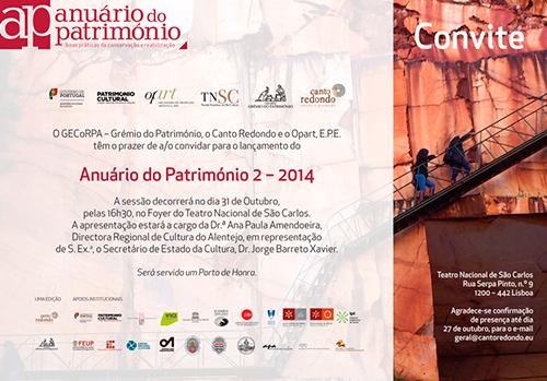 Lançamento do Anuário do Património 2 - 2014