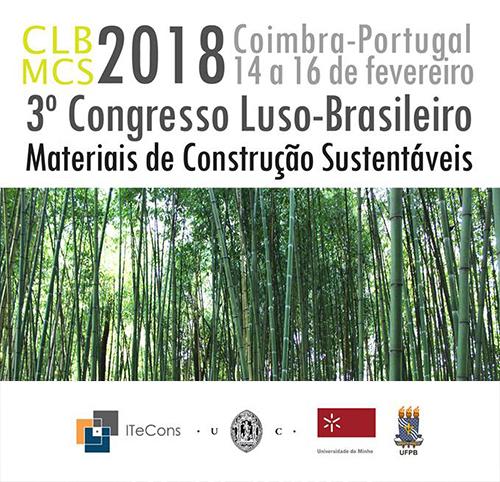 CLBMCS 2018 - 3.º Congresso Luso-Brasileiro de Materiais de Construção Sustentáveis