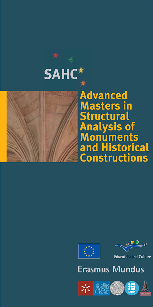 Scholarships for Advanced Masters in Structural Analysis of Monuments and Historical Constructions (Call 2)