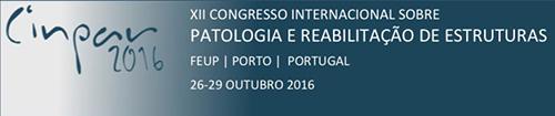 CINPAR 2016 - Congresso Internacional sobre Patologia e Reabilitação de Estruturas