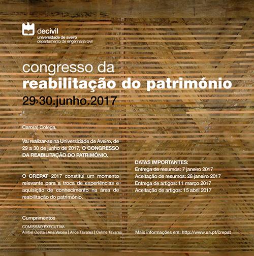 CREPAT 2017 - Congresso da Reabilitação do Património