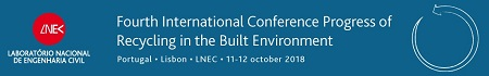 CONFERÊNCIA Fourth International Conference Progress of Recycling in the Built Environment