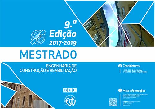 9.ª Edição do Curso de Mestrado em Engenharia de Construção e Reabilitação: 1.ª Fase de Candidaturas