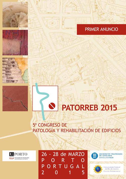 PATORREB 2015 - 5.ª Conferência sobre Patologia e Reabilitação de Edifícios